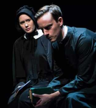 "(l-r) Jenny Donovan and Rob Jansen in ""Doubt, a Parable""  (Photo: Teresa Castracane)"