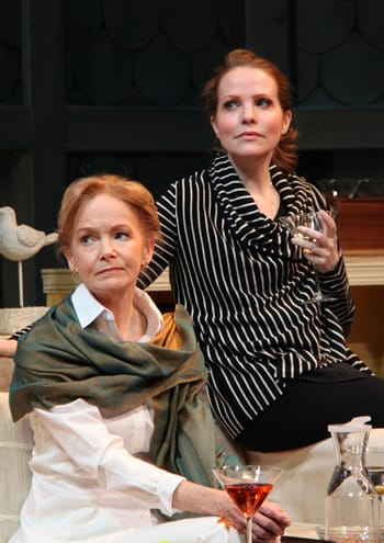 (l-r) Helen Hedman as Alice Croll and Michelle Six as Catherine Croll in Round House Theatre production of Rapture, Blister, Burn (Photo:  Danisha Crosby)