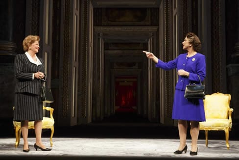 Judith Ivey as Margaret Thatcher and Helen Mirren as Queen Elizabeth II (Photo: Joan Marcus)