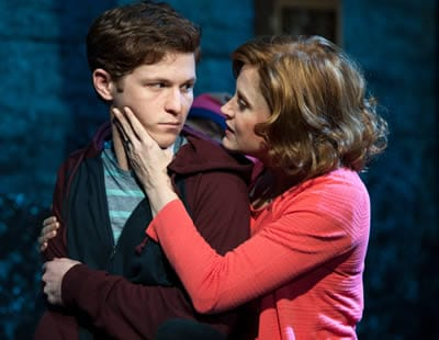 Jake Winn as Luke and Christiane Noll as Eileen in Kid Victory (Photo: Margot Schulman)