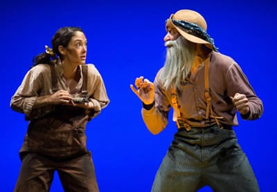 Helen Cespedes as Mabel and Evan Zes as Curly P. Curtis (Photo: Igor Dmitry)