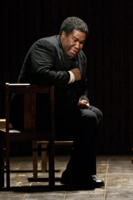Eric Owens as the South African Anglican priest Stephen Kumalo in Lost in the Stars, Glimmerglass Fesitval, 2012 (Photo:
