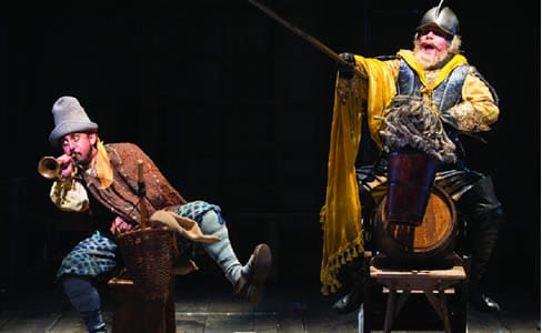 Nehal Joshi as Sancho and Anthony Warlow as Don Quixote (Photo: Scott Suchman)
