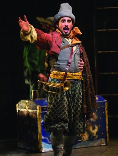 Nehal Joshi as Sancho Panza in Man of La Mancha (Photo: Scott Suchman)