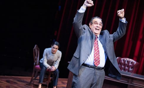 Kerry Warren as Cat and Edward Gero as Supreme Court Justice Antonin Scalia (Photo: C. Stanley Photography)