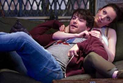 Alex Brightman (Jonah) and Jessica Hershberg (Charlie) in Soon (Photo: Teresa Wood)