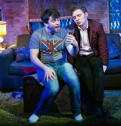 (r)  Joshua Morgan as Charlie with  Alex Brightman (now on Broadway in School of Rock) as  Jonah in Soon at Signature Theatre (Photo: Teresa Wood)
