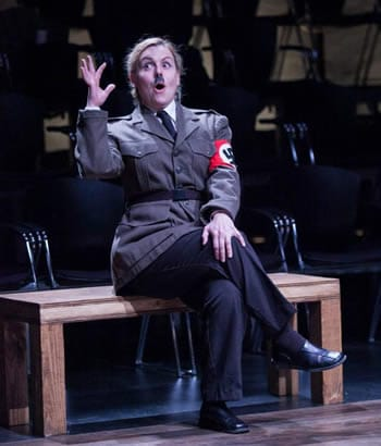 Tonya Beckman as Adolf Hitler in Passion Play (Photo: C. Stanley Photography)
