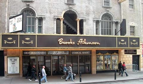 The Brooks Atkinson Theatre on 47th Street, named for the New York Times critic.