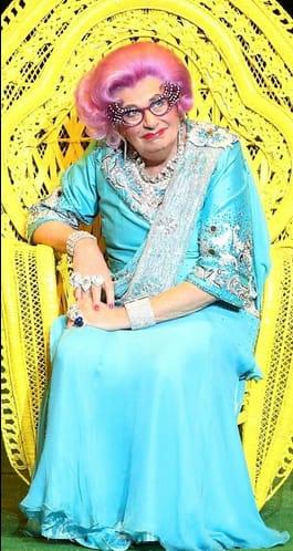 as Dame Edna