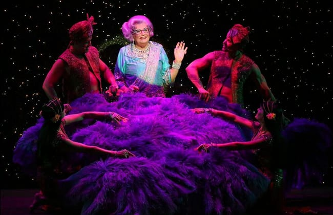 The cast of Dame Edna's Glorious