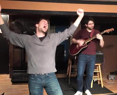 (l-r)  Kevin Hasser and Robert Christopher Manzo at Drunkle Vanya at The Pinch