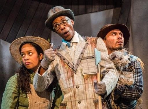 Paige Hernandez-Funn, Henian Boone and Ryan Dalusung in The Wonderful Wizard of Oz