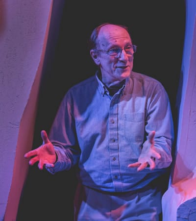 Richard Henrich on the set of his play Jarry Inside Out (Photo: K-Town Studio)