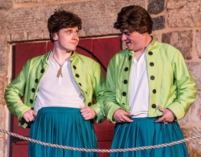 Antipholus twins: (l-r) Matthew Ancarrow and Robbie Rose (Photo: Teresa Castracane)