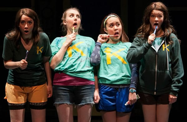 (l-r) Sarah Lasko, Emily Kester, Justine Moral, Lauren Williams (Photo: Margot Schulman)