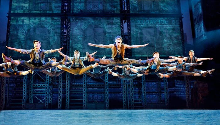 The ensemble of Newsies . Original North American Tour company of NEWSIES  (Photo: ©Disney, Deen van Meer)