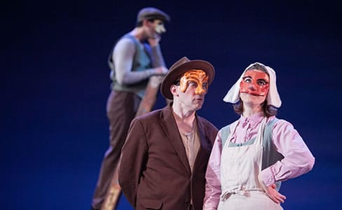 (l-r) The Gibbs family: Drew Kopas as George,  Toby Mulford as Doc and Julie Garner as Julia (Photo: C. Stanley Photography)