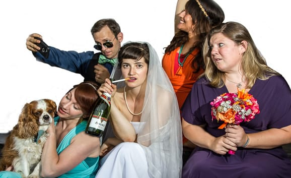 Cast of The Wedding Party at Capital Fringe