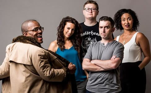 Second City's Let Them Eat Chaos cast: (l-r) Travis Turner, Holly Laurent, Adam Peacock, Kevin Sciretta, Niccole Thurman ((Todd Rosenberg Photography)
