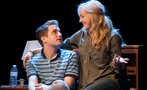 Ben Platt as Evan and Rachel Bay Jones as Heidi in the world-premiere musical Dear Evan Hansen at Arena Stage  (Photo:  Margot Schulman)