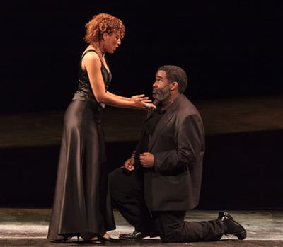 Guest artist Jacqueline Echols, formerly from the Young Artists Program, shown here with Eric Owens (Photo: Karli Cadel)