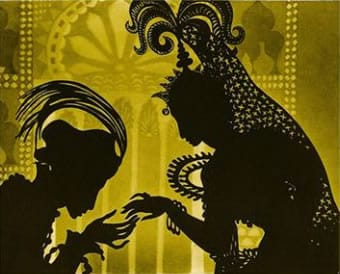 Scene from Lotte Reiniger's The Adventures of Prince Achmed