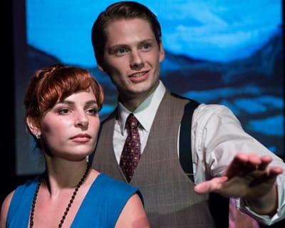 Chris Oeschel as Charles Brousse, Gracie Jones as Betty Thorpe in Code Name: Cynthia (Photo: Teresa Castracane Photography LLC )