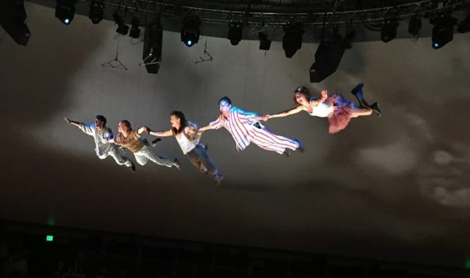 Rehearsing Peter Pan 360 (Photo courtesy of the company)