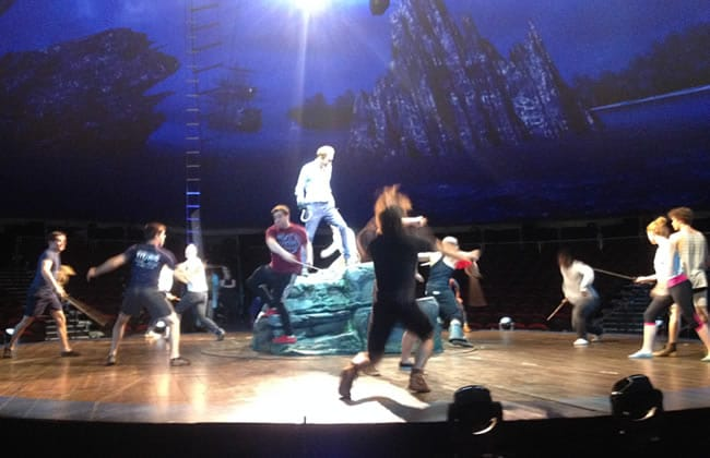 Fight call for Peter Pan 360 (Photo: Christopher Henley)