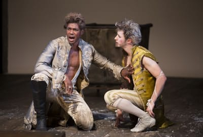 Dion Johnstone (left) as Oberon and Adam Green as Puck in the 2015 Shakespeare Theatre Company production of A Midsummer Night's Dream. (Photo: Scott Suchman)