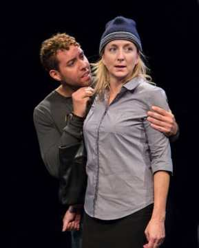 Michael Kevin Darnall and Kate Eastwood Norris in Animal at Studio Theatre (Photo: Igor Dmitry)