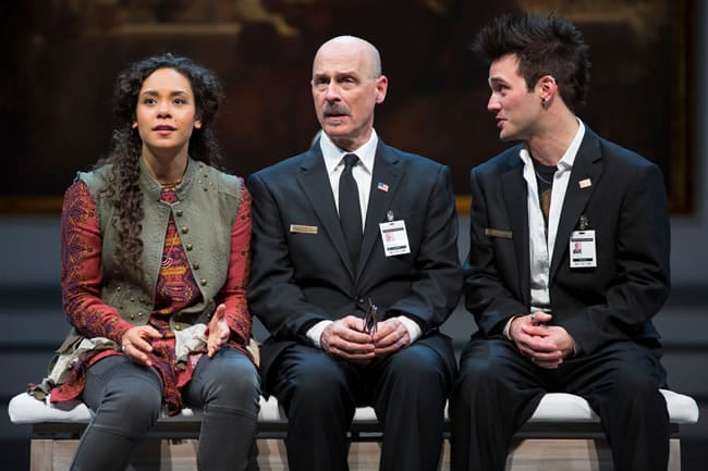Kathryn Tkel, Mitchell Hébert and Josh Sticklin in The Guard at Ford's Theatre (Photo: Scott Suchman)