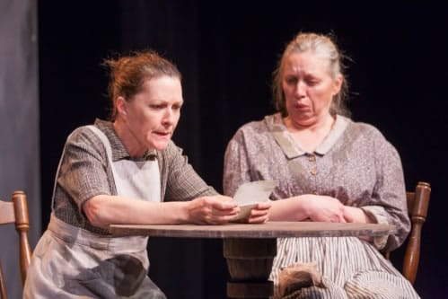 (l-r) Jennifer Mendenhall and Nanna Ingvarsson in The Cripple of Inishmaan from Scena Theatre (Photo:  Jae Yi Photography)