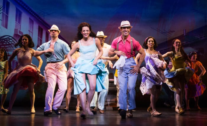Ana Villafañe and the cast of ON YOUR FEET! at the Marquis Theater (Photo: Matthew Murphy)