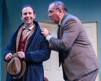 (l-r) Jonathan Lee Taylor and Elliott Bales in Harvey at 1st Stage. (Photo: Teresa Castracane)