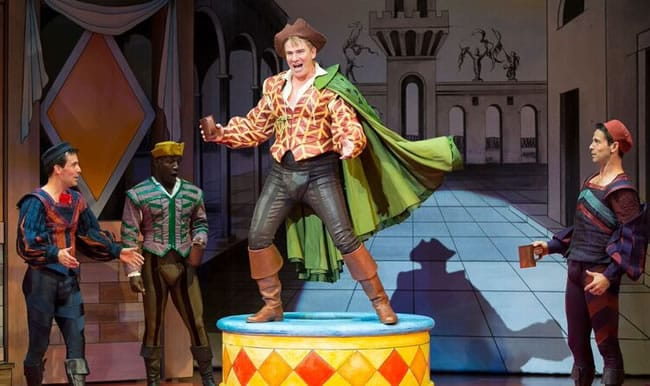 Douglas Sills as Petruchio and the Company in Kiss Me, Kate at the Shakespeare Theatre Company. (Photo: Scott Suchman)