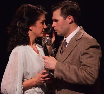 Matthew Schleigh and Katie Keyser as George and Mary in It's a Wonderful Life - The Musical at Toby's Dinner Theatre (Photo: Teri Tidwell Photography)