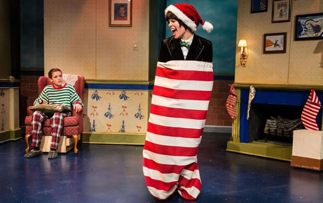 Kevin Grieco as Rufus and Erin Weaver as The Lump of Coal in A Lump of Coal for Christmas at Adventure Theatre MTC (Photo: Michael Horan)