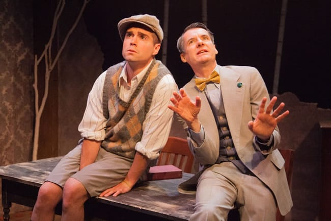 (l-r) Séamus Miller as Buddy and Christopher Henley as Truman in Holiday Memories from WSC Avant Bard (Photo: DJ Corey)