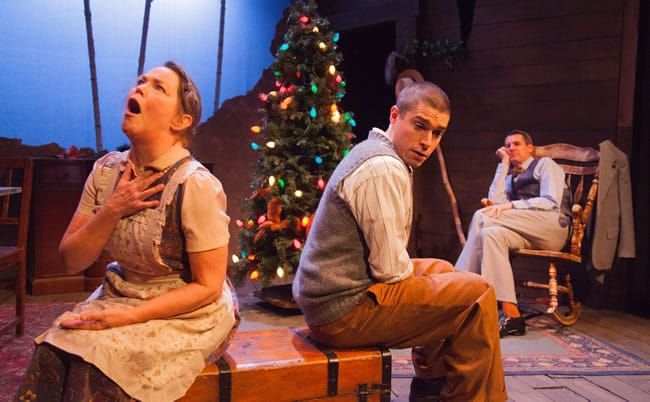 Charlotte Akin, Séamus Miller and Christopher Henley in Holiday Memories from WSC Avant Bard (Photo: DJ Corey)