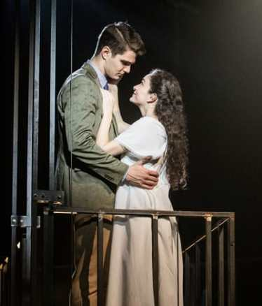 MaryJoanna Grisso as Maria and Austin Colby as Tony in West Side Story at Signature Theatre. (Photo: Christopher Mueller)