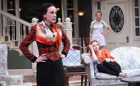 (l-r) Susan Rome, Susan Lynskey and Kimberly Scgaf in The Sisters Rosensweig at Theater J (Photo: Stan Barouh)
