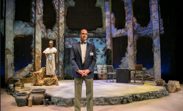 Shannon L. Graham and Jonathan Feuer in Antigone Project at Rep Stage ( Katie Simmons-Barth)