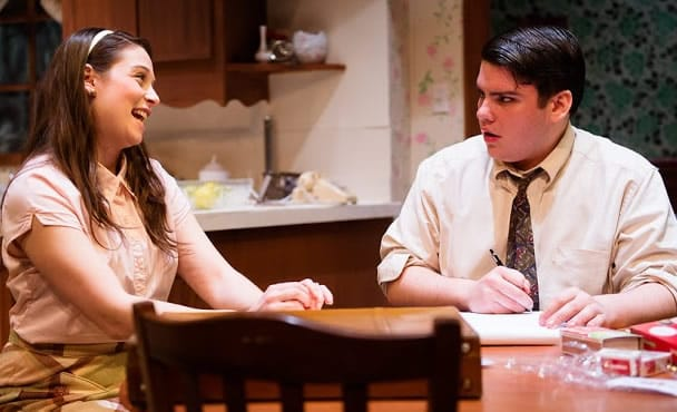 Rebecca Hausman and Robert Pike in Crimes of the Heart at NextStop Theatre. (Photo: Traci J. Brooks Studios)