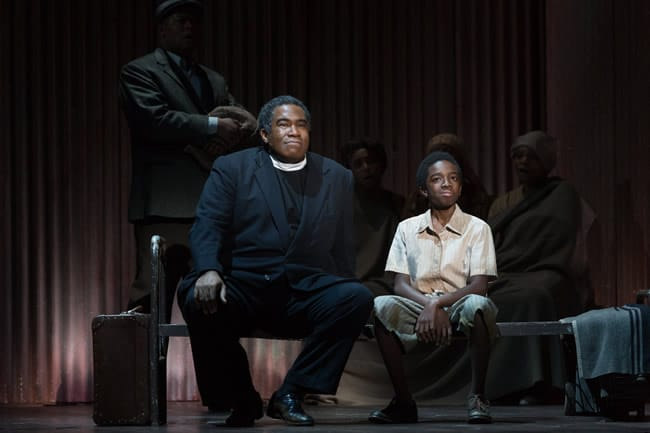 Eric Owens as Stephen Mumalo and Caleb McLaughlin as Alex in Lost in the Stars, produced by Washington National Opera. (Photo: Karli Cadel).