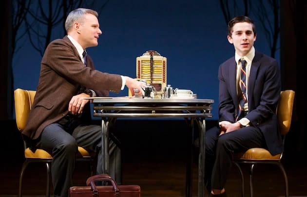 Chris McGarry and Timothée Chalamet in Prodigal Son by John Patrick Shanley (Photo: Joan Marcus)