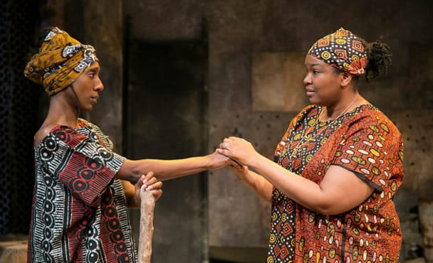 """Shannon L. Graham and Kelly Renee Armstrong in """"Stone's Throw"""" part of Antigone Project at Rep Stage (Photo: Katie Simmons-Barth)"""