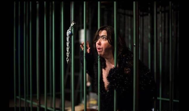 Deborah Randall in Fur at Venus Theatre (Photo: Lisa Helfert Photography)