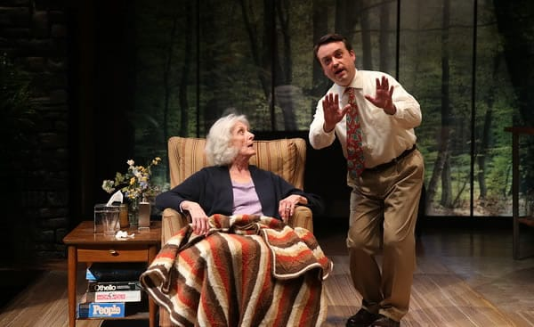 Kathleen Butler as Marjorie Prime and Michael Glenn as Walter in Marjorie Prime at Olney Theatre Center (Photo: Nicholas Griner)